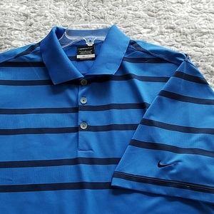 Mens Nike golf shirt dry fit.  Large